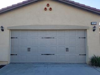 garage door with hardware installed