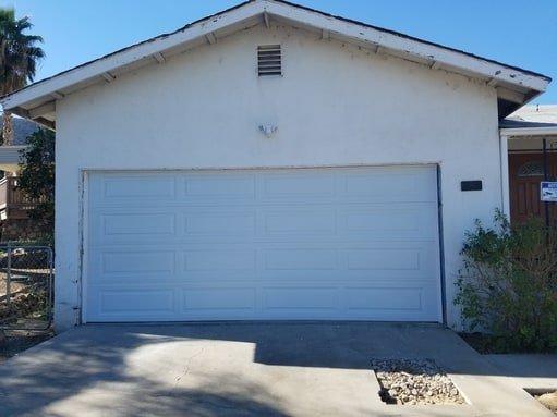 garage door panel repaired